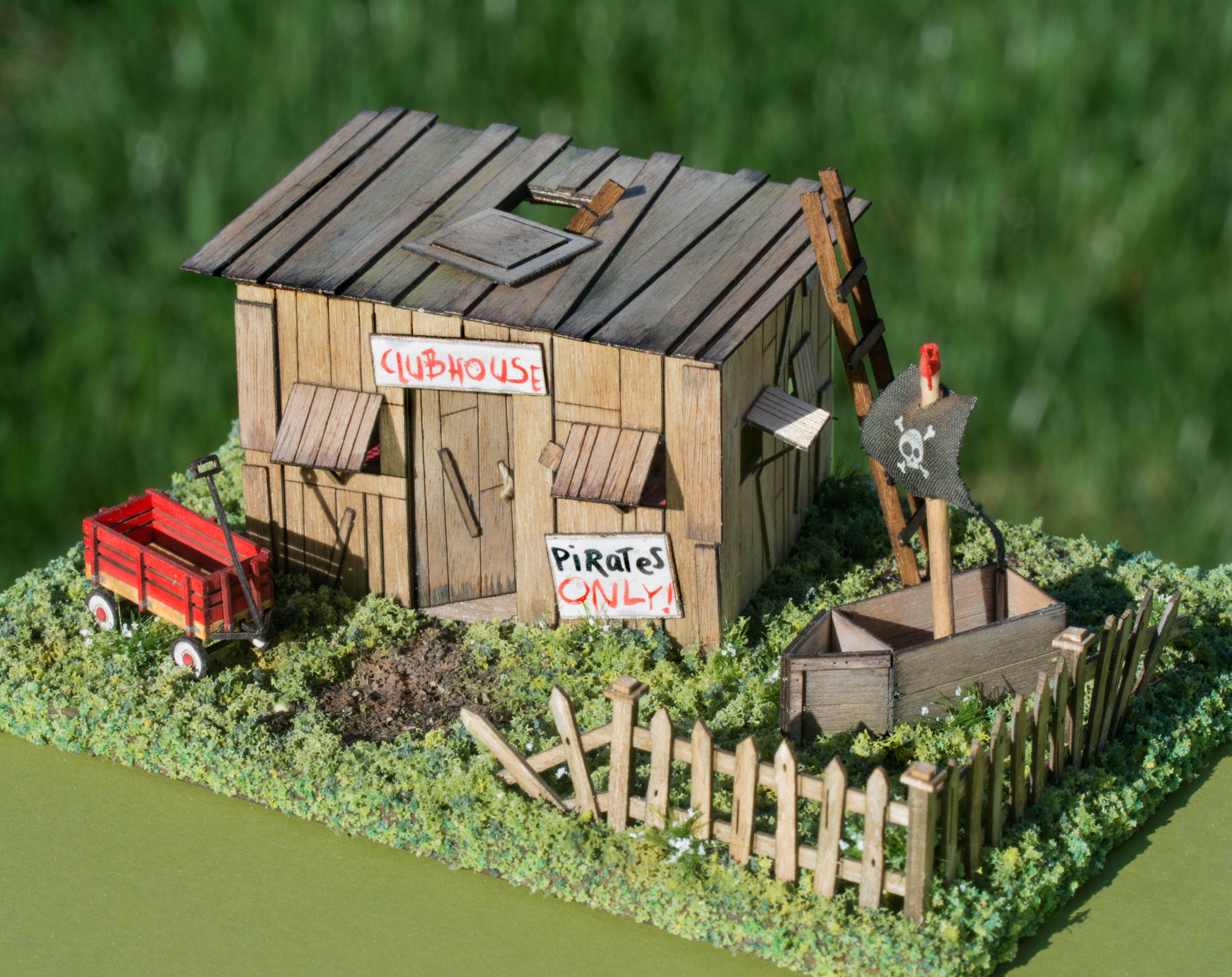 building and landscaping a 1/4 scale kids' clubhouse