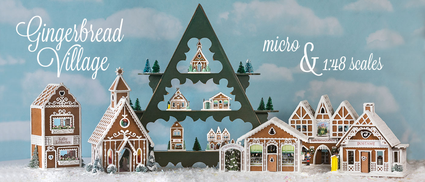 True2Scale Gingerbread Village kits